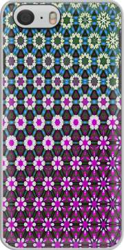 Capa Abstract bright floral geometric pattern teal pink white