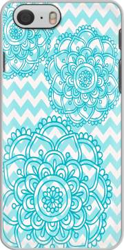 Capa aqua chevrons and flowers