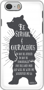 Capa Be Strong and courageous Joshua 1v9 Bear for Iphone 6 4.7