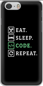 Capa Eat Sleep Code Repeat for Iphone 6 4.7
