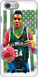 Capa Giannis Antetokounmpo grec Freak Bucks basket-ball for Iphone 6 4.7