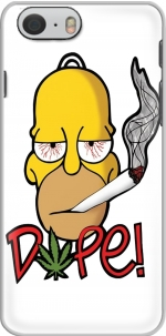 Capa Homer Dope Weed Smoking Cannabis for Iphone 6 4.7