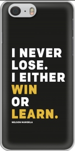 Capa i never lose either i win or i learn Nelson Mandela for Iphone 6 4.7