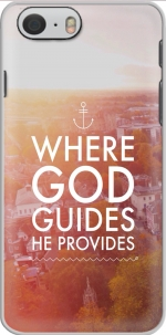 Capa Where God guides he provides Bible for Iphone 6 4.7