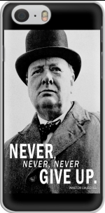 Capa Winston Churcill Never Give UP for Iphone 6 4.7