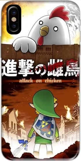 Capa Attack On Chicken para Iphone X / Iphone XS