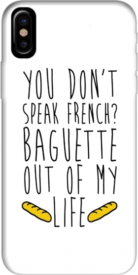 Capa Baguette out of my life para Iphone X / Iphone XS