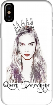 Capa Cara Delevingne Queen Art para iphone-8