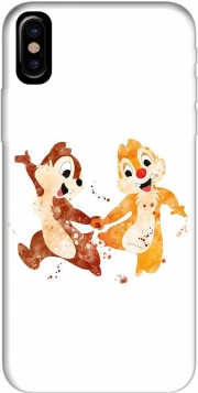 Capa Chip And Dale Watercolor para iphone-8