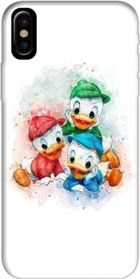 Capa Huey Dewey and Louie watercolor art para Iphone X / Iphone XS
