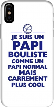 Capa Je suis un papi bouliste comme un papi normal mais plus cool para iphone-8