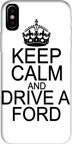 Capa Keep Calm And Drive a Ford para Iphone X / Iphone XS