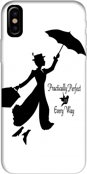 Capa Mary Poppins Perfect in every way para Iphone X / Iphone XS