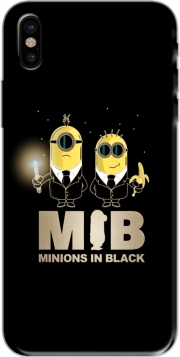 Capa Minion in black mashup Men in black para iphone-8