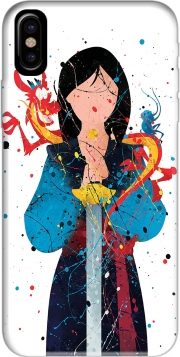 Capa Mulan Princess Watercolor Decor para iphone-8