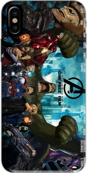 Capa One Piece Mashup Avengers para iphone-8