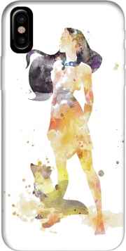Capa Pocahontas Watercolor Art para iphone-8