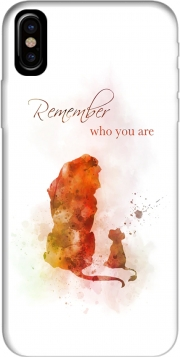 Capa Remember Who You Are Lion King para iphone-8