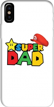 Capa Super Dad Mario humour para iphone-8