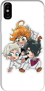 Capa The Promised Neverland - Emma, Ray, Norman Chibi para iphone-8