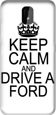 Capa Keep Calm And Drive a Ford para Nokia 3.2