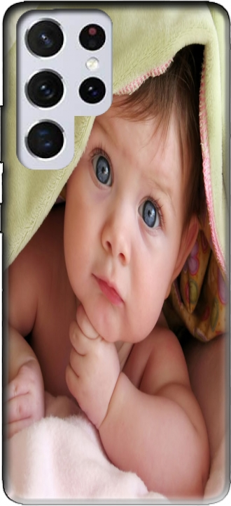 Silicone Samsung Galaxy S21 Ultra com imagens baby
