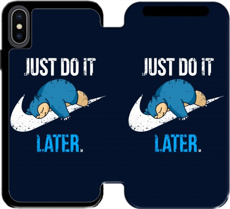 portfolio capa Nike Parody Just do it Late X Ronflex para Iphone X / Iphone XS